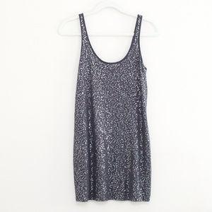 Express Grey Sequin Tank Dress S